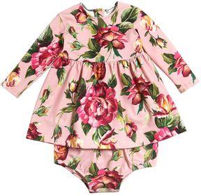 Dolce & Gabbana Roses Interlock Dress & Diaper Cover
