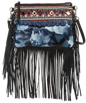 Rebecca Minkoff Dreamy Fringed Crossbody Bag - BLUE MULTI - STYLE