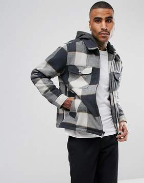 Brixton Casburn Flannel Jacket With Removable Hood