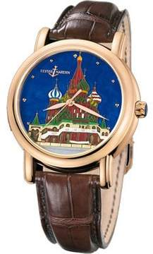 Ulysse Nardin Kremlin Genuine Enamel Cloisonne Leather Automatic Men's Watch