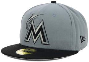 New Era Florida Marlins Fc Gray Black 59FIFTY Cap