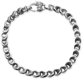 Scott Kay Men's Textured Link Bracelet in Sterling Silver