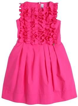 Simonetta Ruffled Cotton Poplin Party Dress