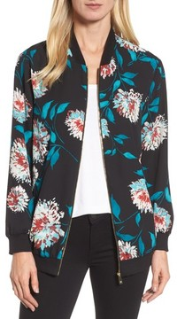 Chaus Women's Kyoto Blossoms Bomber Jacket