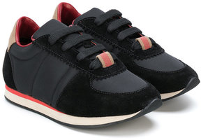 Burberry Kids paneled lace-up sneakers