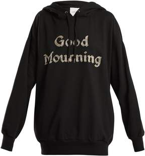 Ashish Bead-embellished cotton-blend hooded sweatshirt