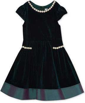 Rare Editions Velvet Party Dress, Little Girls (4-6X), Created for Macy's