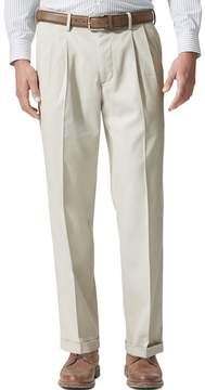 Dockers Men's Relaxed Fit Comfort Stretch D4 Pleated Cuffed Khaki Pants