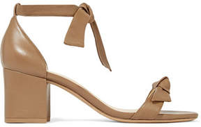 Alexandre Birman Clarita Bow-embellished Leather Sandals - Tan