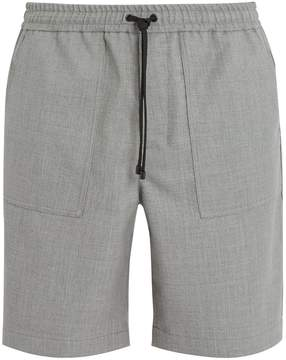 Ami Elasticated-waist straight-leg wool shorts