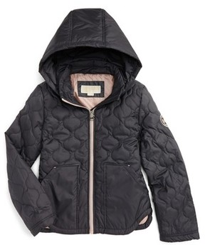 MICHAEL Michael Kors Girl's Quilted Hooded Jacket