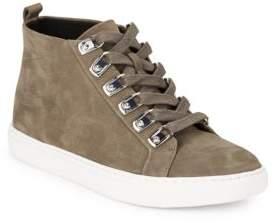Kenneth Cole Kale Nubuck Leather Hi-Top Sneakers