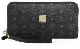 MCM Visetos Large Zip Wallet