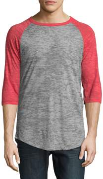 Alternative Apparel Men's Big League Burnout Raglan T-Shirt