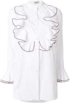 Mantu ruffle trim shirt