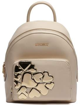 Love Moschino Metallic Hearts PU Leather Backpack