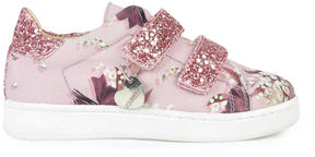 MonnaLisa Velcro printed canvas trainers