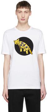Fendi White Embroidered Jaguar T-Shirt