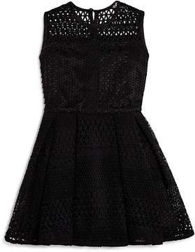 Bardot Junior Girls' Geo Patterned Mesh Dress - Big Kid