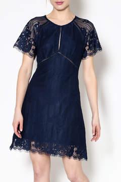 Astr Shelley Navy Dress