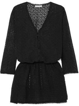 Melissa Odabash Kylie Broderie Anglaise Dress - Black