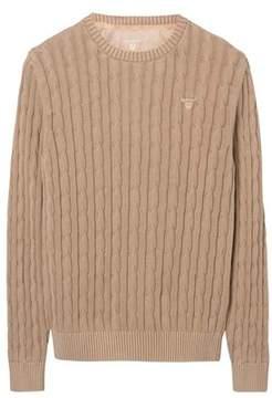 Gant Men's Beige Cotton Sweater.
