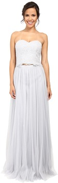 Donna Morgan Adeline Strapless Top Skirt Women's Dress
