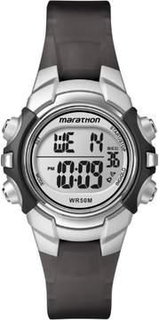 Timex Marathon Digital Watch Mid Size Black Silver