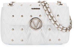 Mario Valentino Valentino By Antoinette Sauvage Leather Stud Shoulder Bag