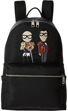 Dolce & Gabbana Family Nylon Patch Backpack Backpack Bags
