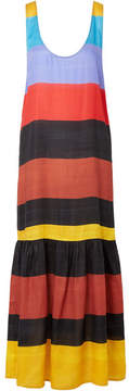 Mara Hoffman Valentina Striped Voile Maxi Dress - Black