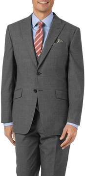 Charles Tyrwhitt Charcoal Slim Fit Panama Puppytooth Business Suit Wool Jacket Size 40