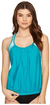 Athena Next by Serenity Double Up 2 Tankini Top Women's Swimwear