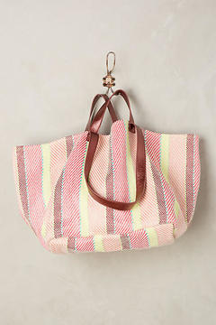 Anthropologie Summer Stripes Tote Bag