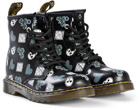 Dr. Martens Black Playing Cards Delaney Boots