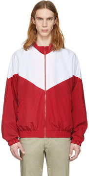 Noon Goons Red and White Mall Jogger Jacket