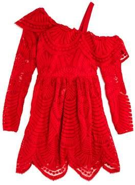 Bardot Junior Girls' Asymmetrical Lace Dress - Big Kid
