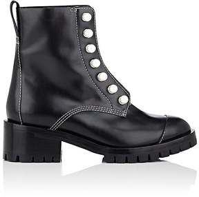 3.1 Phillip Lim Women's Imitation-Pearl-Embellished Leather Ankle Boots