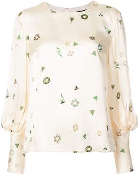 Creatures of the Wind geometric print blouse