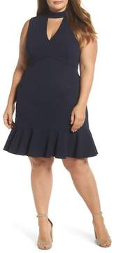 Chelsea28 Choker Fit & Flare Dress (Plus Size)