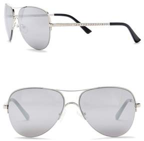 GUESS Aviator 58mm Sunglasses
