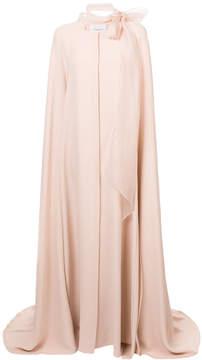 Carolina Herrera pussy bow cape gown