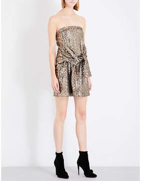 A.F.Vandevorst Strapless sequinned mini dress