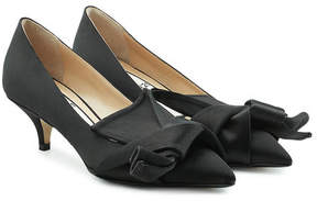 N°21 N21 Knot Satin Pumps