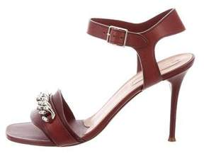 Celine Leather Chain-Link Sandals