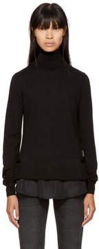 Moncler Black Twist Knit Turtleneck