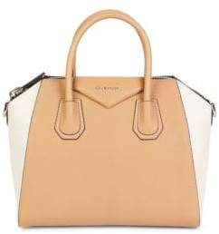 Givenchy Antigona Two-Tone Leather Shoulder Bag