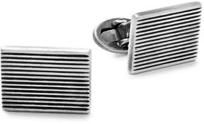 Jan Leslie Men's Sterling Silver Striped Rectangular Cuff Links