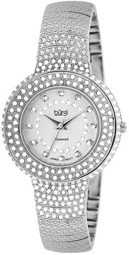 Burgi Diamond Accent And Crystal Fashion Ladies Watch