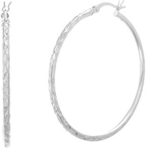 Bliss Sterling Silver Hammered Hoop Earrings